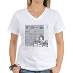 Jeopardy Squirrel - no text Women's V-Neck T-Shirt