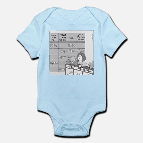 Jeopardy Squirrel - no text Infant Bodysuit