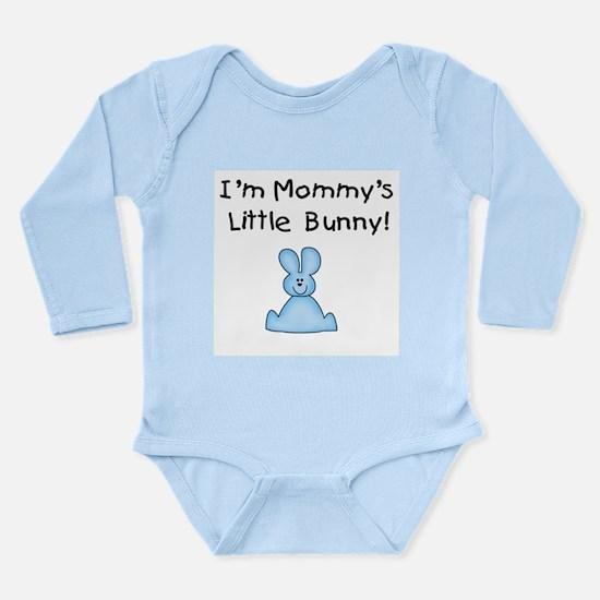 Mommy's Little Bunny (blue) Long Sleeve Infant Bod