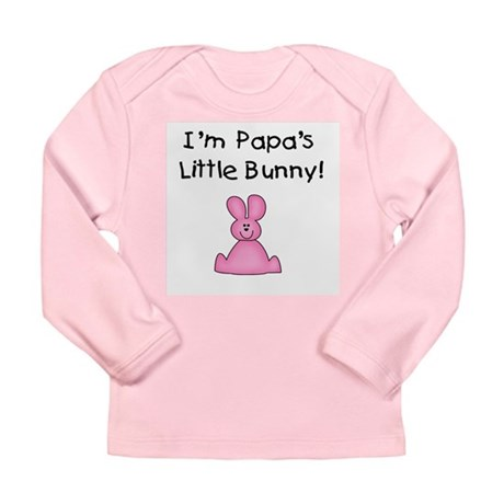 Papa's Little Bunny (pink) Long Sleeve Infant T-Sh