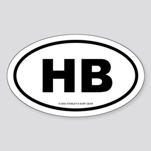 SURFCITY EURO HB Oval Sticker