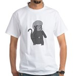 Monkey Hair White T-Shirt
