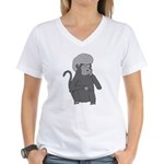 Monkey Hair Women's V-Neck T-Shirt