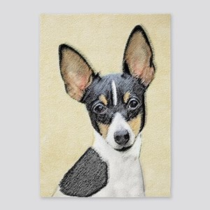 Toy Fox Terrier 5'x7'Area Rug