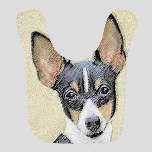 Toy Fox Terrier Polyester Baby Bib