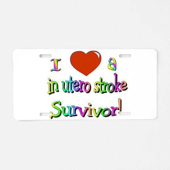 Love in utero survivor Aluminum License Plate