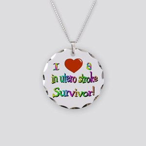 Love in utero survivor Necklace Circle Charm