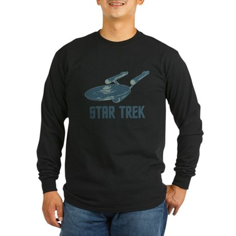 Retro Enterprise Long Sleeve Dark T-Shirt