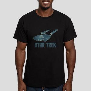 Retro Enterprise Men's Fitted T-Shirt (dark)