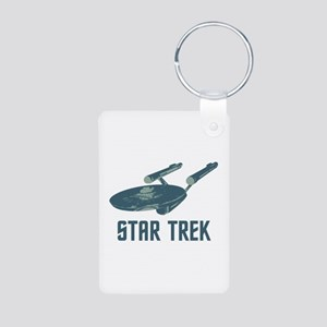 Retro Enterprise Aluminum Photo Keychain
