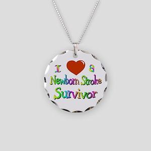 newborn stroke survivor Necklace Circle Charm