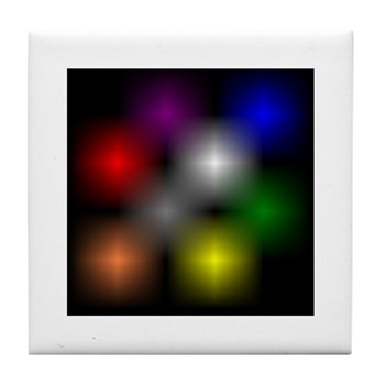 Chromatic Cube Tile Coaster