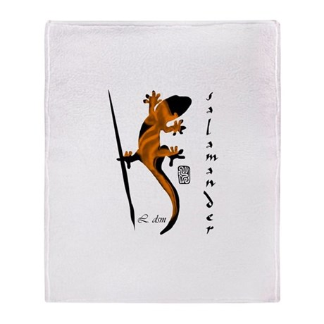 """Salamander"" Throw Blanket"
