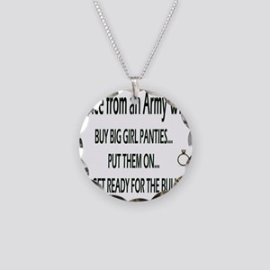 ADVICE Necklace Circle Charm