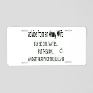ADVICE Aluminum License Plate