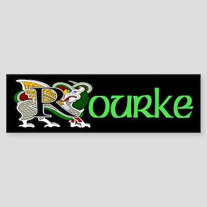 Rourke Celtic Dragon Green Bumper Sticker