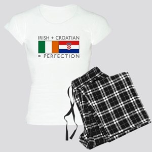 Irish Croatian flags Women's Light Pajamas