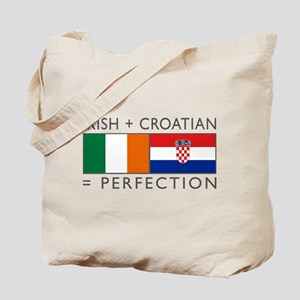 Irish Croatian flags Tote Bag