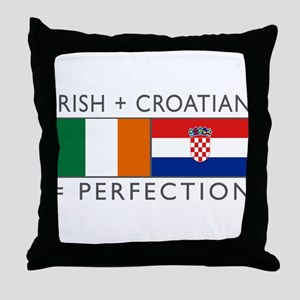 Irish Croatian flags Throw Pillow