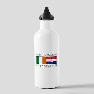 Irish Croatian flags Stainless Water Bottle 1.0L