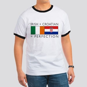 Irish Croatian flags Ringer T