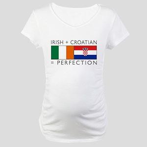 Irish Croatian flags Maternity T-Shirt