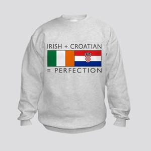 Irish Croatian flags Kids Sweatshirt