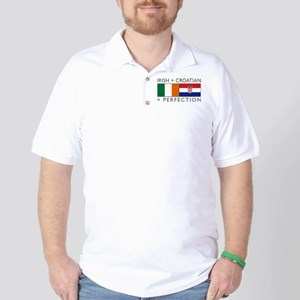 Irish Croatian flags Golf Shirt