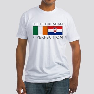 Irish Croatian flags Fitted T-Shirt