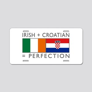 Irish Croatian flags Aluminum License Plate