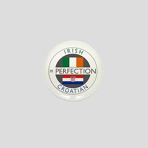 Irish Croatian flags Mini Button