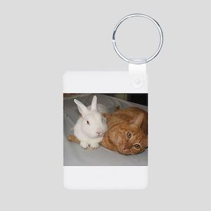 Bunny_Cat Aluminum Photo Keychain