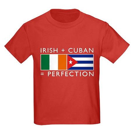 Irish Cuban heritage flags Kids Dark T-Shirt