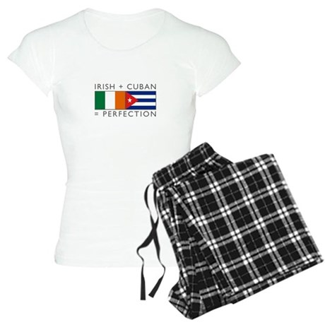 Irish Cuban heritage flags Women's Light Pajamas