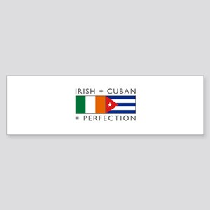Irish Cuban heritage flags Sticker (Bumper)