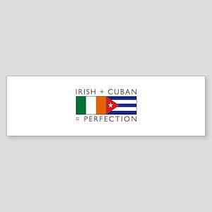 Irish Cuban heritage flags Sticker (Bumper)