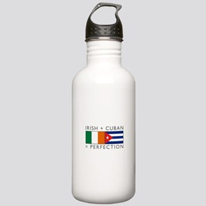 Irish Cuban heritage flags Stainless Water Bottle