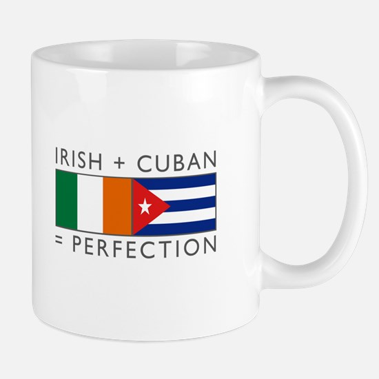 Irish Cuban heritage flags Mug