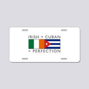 Irish Cuban heritage flags Aluminum License Plate