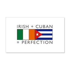 Irish Cuban heritage flags 22x14 Wall Peel