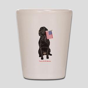 proud american Shot Glass