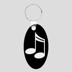 Music Notes Aluminum Keychain