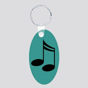Music Gift Musical Notes Oval Keychain