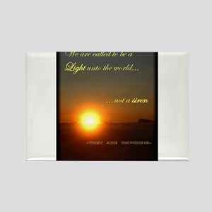 Light unto the World Rectangle Magnet