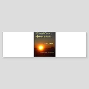 Light unto the World Sticker (Bumper)