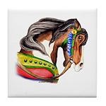 Pinto Carousel Horse Tile Coaster
