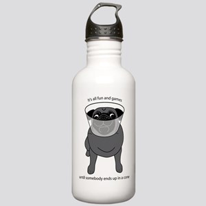 Conehead Black Pug Stainless Water Bottle 1.0L