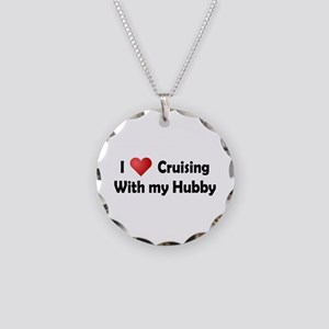 Cruising with my Hubby Necklace Circle Charm