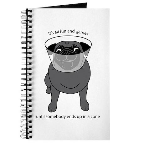 Conehead Black Pug Journal