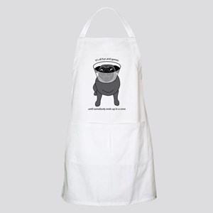 Conehead Black Pug Apron